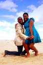 African happy couple Royalty Free Stock Image