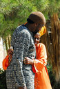 African hebrew israelites of jerusalem dimona isr nov black hebrews couple on nov the group practices polygyny man can marry up to Stock Image