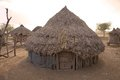 African hut of the karo ethnic group at the karo village omo river valley ethiopia Stock Image