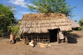 African hut a of the local people of the village of mto wa mbu tanzania africa Stock Photos