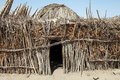 African hut at the village of the arbore ethnic group along the road from turmi to weyto ethiopia Stock Image