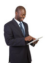 African Male Holding a Touch Pad Tablet PC Royalty Free Stock Photography