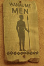 African male toilet sign wooden Royalty Free Stock Photos