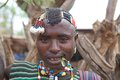 African man banna ethnic group tribal ornaments key afar village ethiopia Royalty Free Stock Images