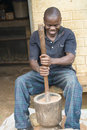 African man hackles millet Royalty Free Stock Photo