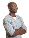 African man looking to the right Royalty Free Stock Photo