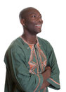 African man with traditional clothes looking sideways Royalty Free Stock Photo