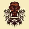 African mask. Royalty Free Stock Photo