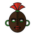African mask ethnicity icon