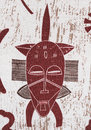 African mask pattern. Royalty Free Stock Photo