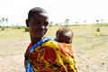 African mom and babe typical in kenya Royalty Free Stock Photo
