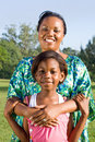 African mother and daughter Royalty Free Stock Photos