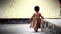 African orphan little girl in dar es salaam tanzania nikon d Stock Photo