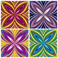 African pattern set stylish trendy textile design in vivid and lucid colors seamless Royalty Free Stock Image