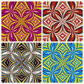 African pattern set stylish trendy textile design in vivid and lucid colors seamless Stock Photography