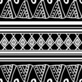African pattern vector with hand drawn tribal geometric black and white ethnic drawing. Seamless design illustration for fashion