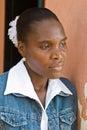 African portrait woman Royaltyfri Fotografi