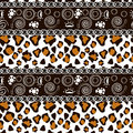 African print with cheetah skin pattern Stock Photo