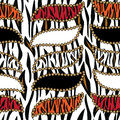 African print with tiger skin pattern Royalty Free Stock Image