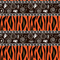 African print with tiger skin pattern Royalty Free Stock Photo