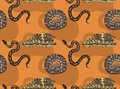 African Python Cartoon Seamless Wallpaper Royalty Free Stock Photo