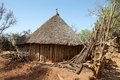 African rural church konso village ethnic group Stock Photos