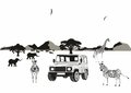 African safari in africa image illustration Stock Photography