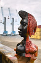 African sculpture in the harbour of lome Royalty Free Stock Photos