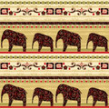 African seamless pattern with elephant Royalty Free Stock Photo