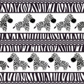 African seamless patterns Royalty Free Stock Image