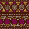 African seamless print. Grunge texture. Vintage ornament. Tribal Royalty Free Stock Photo