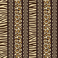 African seamless with wild animal skin patte Royalty Free Stock Images