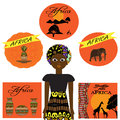 African Set With Dishes, Anima...
