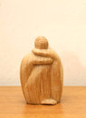African statuette made of wood. Royalty Free Stock Photo
