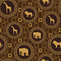 African stile seamless pattern Royalty Free Stock Photos
