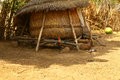 African straw house hay architecture built with Royalty Free Stock Photo