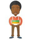 African Streesful employee Royalty Free Stock Photo