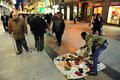 African street hawker in Madrid Spain Royalty Free Stock Images