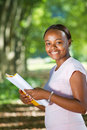 African student reading Stock Photography