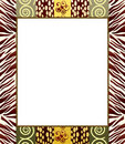 African style frame 2 Stock Photos