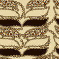 African style seamless with cheetah skin pattern Royalty Free Stock Photos