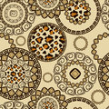 African style seamless with cheetah skin pattern Stock Images