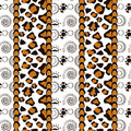 African style seamless with cheetah skin pattern background Royalty Free Stock Photo