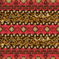 African style seamless with cheetah skin pattern background Royalty Free Stock Photography