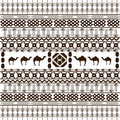 African texture with ethnic motifs Royalty Free Stock Image