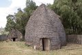 African tribal hut of the dorze ethnic group at the chencha village in the guge mountains ethiopia Royalty Free Stock Photos
