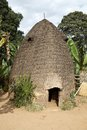 African tribal hut of the dorze ethnic group at the chencha village in the guge mountains ethiopia Stock Photos