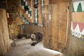 African tribal hut inside of the of the gurage ethnic group at the village along the road to addis abeba ethiopia Royalty Free Stock Photography