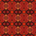 African tribal pattern hand drawn folk ethnic ornament with thick lines and stylized shapes of drums very detailed in contrasting Royalty Free Stock Images