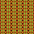 African tribal pattern seamless black green red and yellow Stock Photos